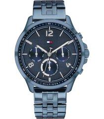 tommy hilfiger women's blue stainless steel bracelet watch 38mm