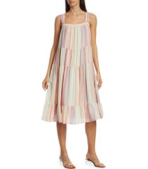 rails women's amaya tiered dress - juliette stripe - size l