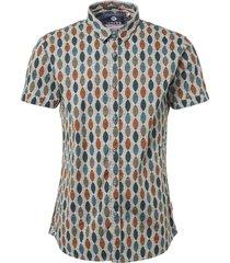shirt, s/s, all over print, shiel offwhite