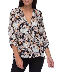 cristy pleat-back floral-print blouse