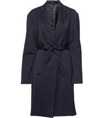 amie jacket dunne lange jas blauw filippa k