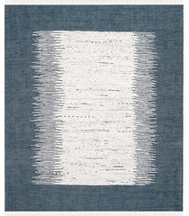 safavieh montauk tie-dye cotton rug - ivory navy - size 8' x 10'