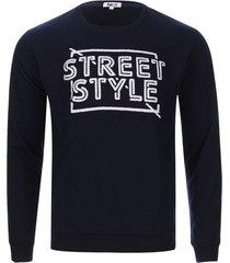 buzo street style color azul, talla l