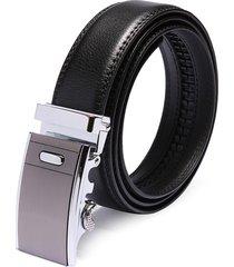 cintura nera in pelle di pelle di pelle business dell'inarcamento 120cm