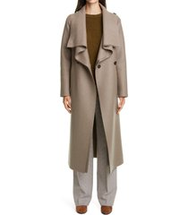 women's harris wharf london volcano belted wool coat, size 8 us - brown