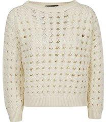 fabiana filippi perforated ribbed sweatshirt
