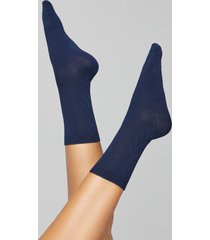 lane bryant women's diamond & solid crew socks 2-pack onesz dark water