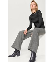 byxor bella fishbone trousers