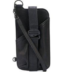 the viridi-anne textured mobile phone case bag - black