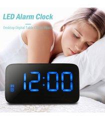 reloj de alarma led pantalla led grande control de voz-