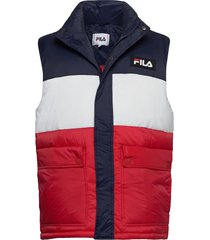 men salo puffer vest vest multi/patroon fila