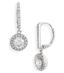 women's nordstrom cubic zirconia halo drop earrings