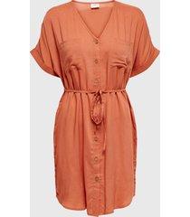 vestido jacqueline de yong naranjo - calce regular