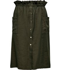 kjol carjanine button calf skirt