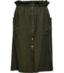 kjol carjanine button calf skirt