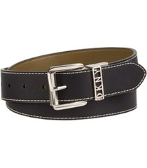 dkny contrast stitch reversible belt