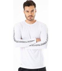 camiseta  gef hombre mixtrim blanco