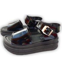 sandalia negra onas calzados chicago
