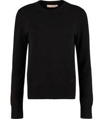 tory burch crew-neck cashmere sweater