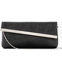 pochette con patta obliqua (nero) - bpc bonprix collection