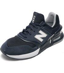 tenis lifestyle azul navy-blanco new balance 997