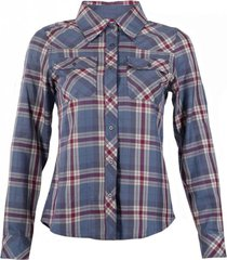 camisa mountain towns shirt l/s azul piedra / uva lippi