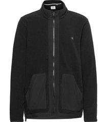 aktom fleece cardigan sweat-shirts & hoodies fleeces & midlayers svart anerkjendt