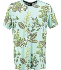 kultivate zacht slim fit t-shirt mint melange
