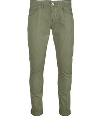 dondup green slim-leg trousers man