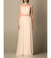 alberta ferretti dress alberta ferretti long dress in pleated silk