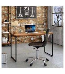 mesa de escritório studio nogal 120 cm