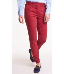 bordowe spodnie bawełniane