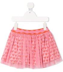 stella mccartney kids hearts tulle skirt