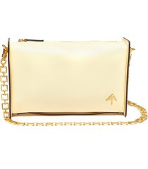 'carmen' leather shoulder bag with chain