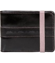 carteira de couro com elástico