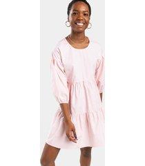 emely tiered babydoll mini dress - blush