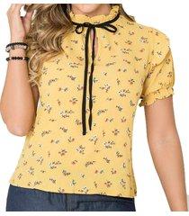 blusa anila amarillo para mujer croydon
