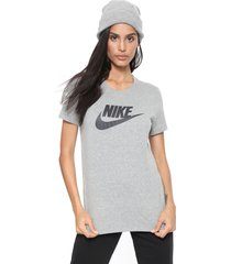 camiseta nike sportswear nsw tee essntl cinza - kanui