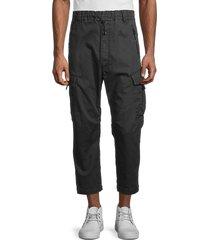 diesel men's phanto cropped jeans - black yellow - size 28