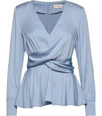 day blouse lange mouwen blauw custommade
