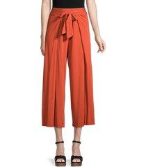 michael stars women's clarissa cropped wide-leg pants - admiral - size m