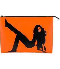calvin klein jeans est. 1978 icon clutch bag - orange