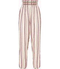 forte forte pantalone gauze in cotone a righe
