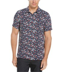 men's exploded daisy soft touch short sleeve button-down shirt