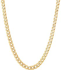 """basic 18k goldplated sterling silver curb chain necklace/18"""""""