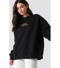 beyyoglu tiger sweatshirt - black