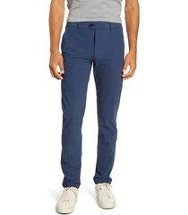 men's greyson montauk slim straight stretch nylon technical pants, size 40 x 32 - blue