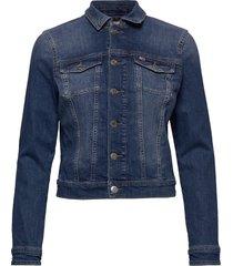 slim trucker jacket jeansjacka denimjacka blå tommy jeans