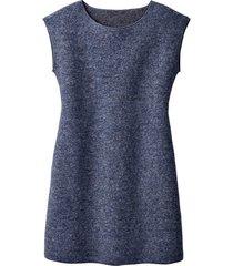 walkstof jurk met korte mouwen, urban denim 46
