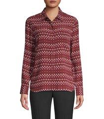 equipment women's lemma geo-print shirt - tawny port - size xs